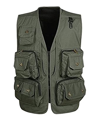 Geval men 39 s outdoor multi pockets photography for Fishing vest amazon
