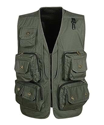 Geval men 39 s outdoor multi pockets photography fishing vest for Fishing vest amazon