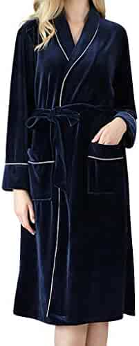 Dainzuy Women's Robe Sleepwear Bath Robe Soft Keep Warm Spa Robe Loungewear House Pajamas Robe for Women