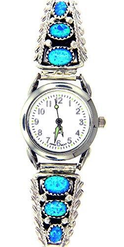 Rich Peel Navajo Created Opal Ladies Watch Bracelet by Robert Brown