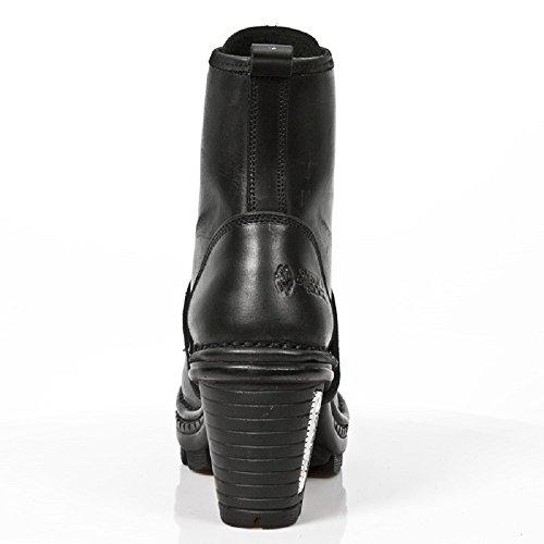 Cuir Lace Up Bottes New Rock marron NEOTRAIL Noir Rock Gothique Punk
