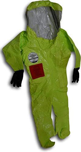 DuPont Tychem 10000 Procedures Encapsulated Hazmat Protect Training Suit (Size :XXL)
