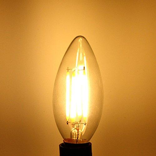 Lights & Lighting - E14 Led Bulb 4w Cob Pure White/Warm White Edison Retro Filament Candle Light Lamp Ac 220v - Lucero Smart Bulb Watt Colores Edison Light Candelabra Base Candle - 60w - 1PCs