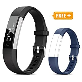 TOOBUR Fitness Activity Tracker Watch for Kids Women Men, Pedometer, Calorie Counter, IP67 Waterproof Step Counter Watch with Sleep Monitor and Vibrating Alarm Clock (2019 New Edition)