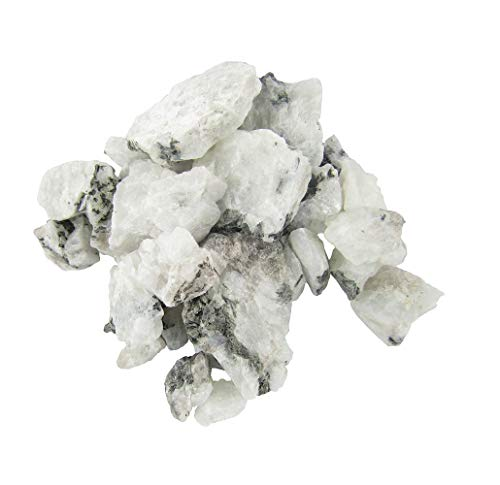 1 lb Rough Untumbled Stones For Wire Wrapping, Polishing, Tumbling, Wicca, Reiki, Healing, Metaphysical, Chakra, Positive Energy, Meditation, Protection, Powers, Decoration or Gift (Moonstone)