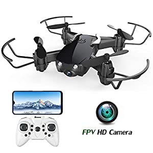 Mini Drone with 720P Camera for Kids and Adults, EACHINE E61HW WiFi FPV Quadcopter with 720P HD Camera Selfie Pocket…