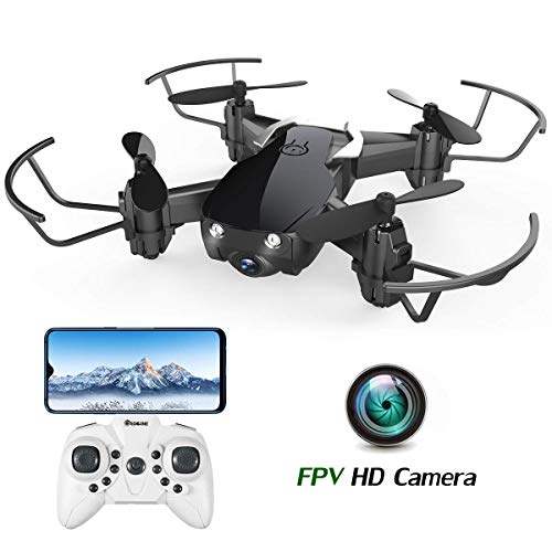 Mini Drone with Camera for Kids and Adults, EACHINE E61HW WiFi FPV Quadcopter with HD Camera Selfie Pocket Nano Drone for Beginner RTF - Altitude Hold Mode, One Key Take -