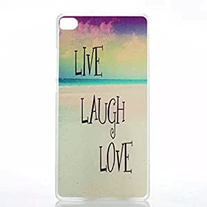 PIZU Newest Fashion Colorful PC Hard Case for Huawei Ascend P8 Live Laugh Love