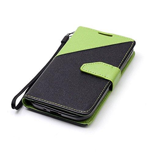 Sunroyal ® [Anti-Gota] PU Cuero para Galaxy S4 Funda Ultra Slim Flip Caso Leather Samsung S4 Case Wallet Card Cubierta Protectora Soporte [Billetera con Tapa para Tarjetas] Empalme Contraportada Carca A-06
