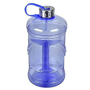 3 Liter BPA-Free Water Bottle with Stainless Steel Cap - Dark Blue