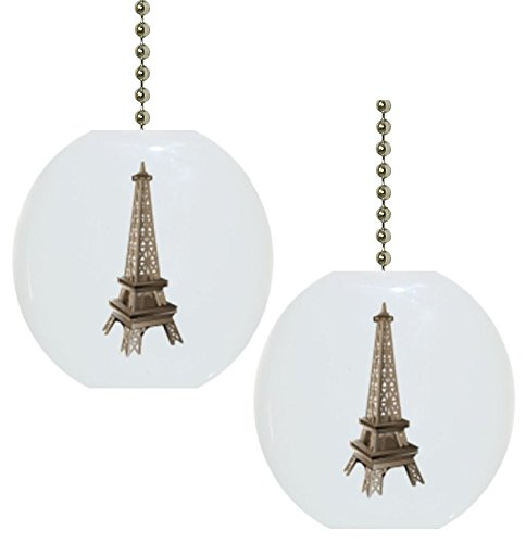 Eiffel Tower Landmark CERAMIC Fan Pull