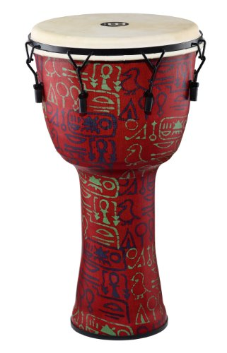 Meinl Percussion PMDJ1-S-G Small Mechanically Tuned Travel Series Djembe with Synthetic Shell and Goat Skin Head, Pharaoh's Script by Meinl Percussion