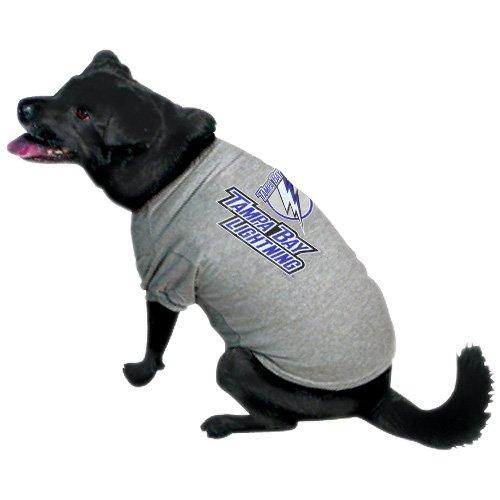 NHL Tampa Bay Lightning Gray Dog T-shirt (Medium)