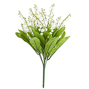Factory Direct Craft Artificial Lily of The Valley Bushes for Floral Arrangements, Decor & More - 2 Bushes 11