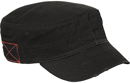 BDU Inspired Low Profile Short Bill Adjustable Cap Hat, One Size Black