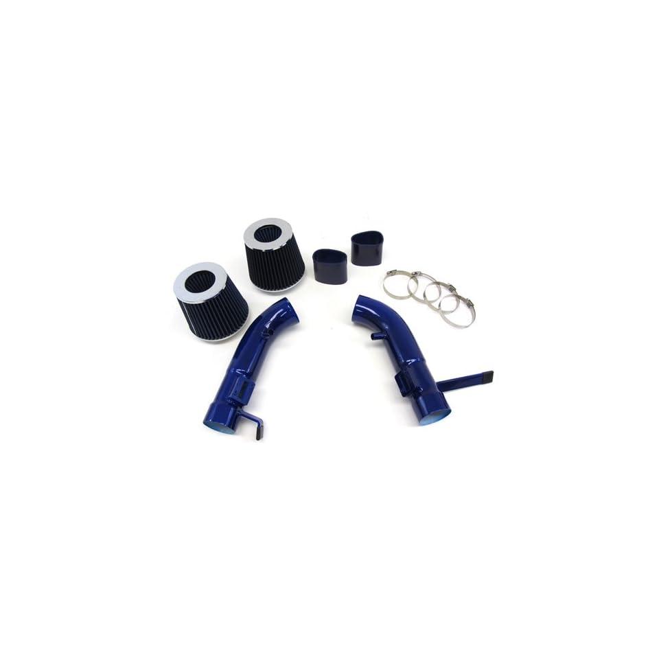 07 08 Infiniti G35 G37 Sedan Short Ram Air Intake Kit Blue Pipe Blue Filter