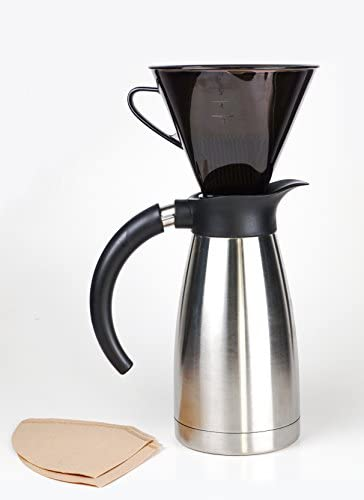 RSVP Manual Drip Coffee Filter Cone for Carafes or Thermos Home ...