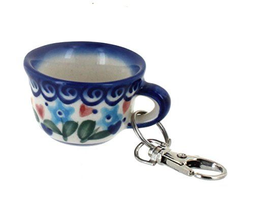 Polish Pottery Butterfly Key Chain