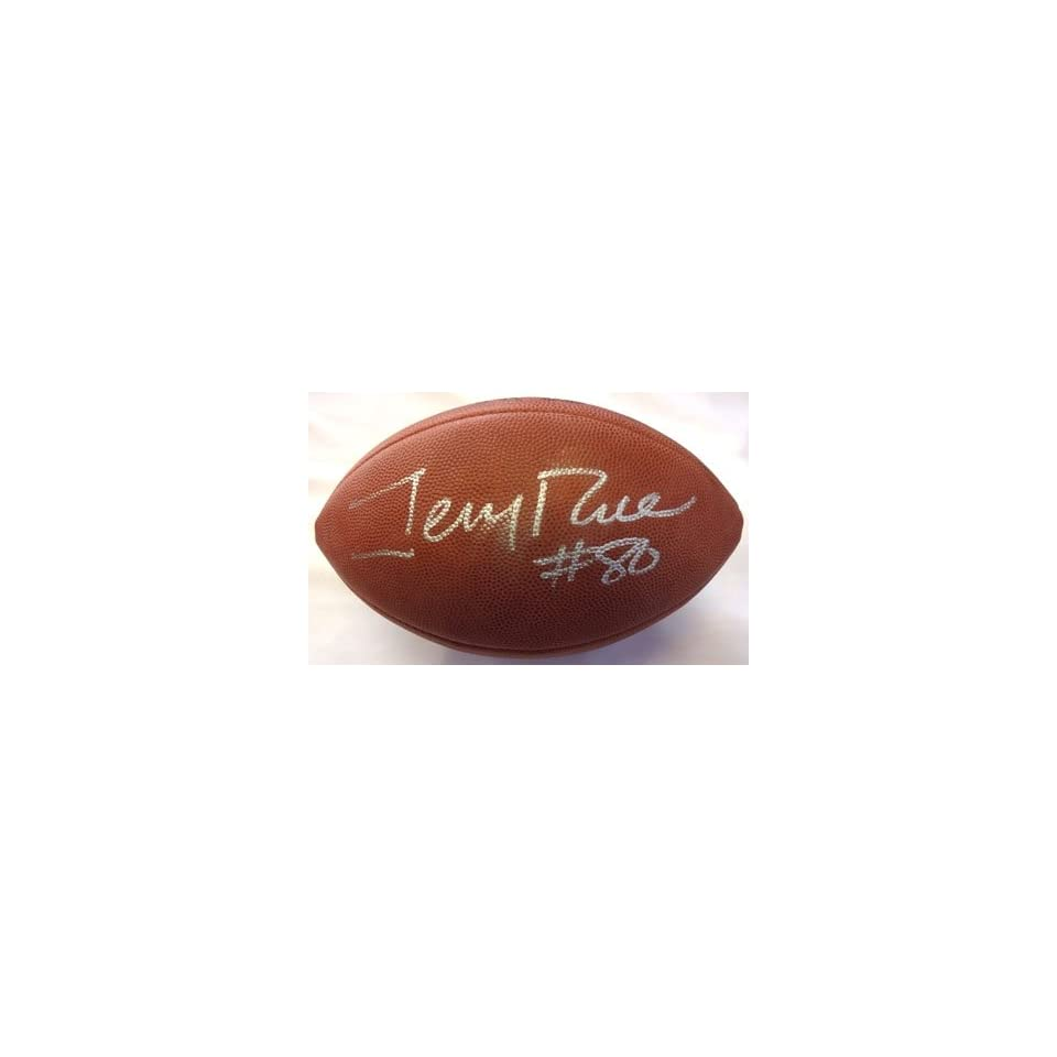 Jerry Rice Autographed/Hand Signed NFL Football JSA F07828