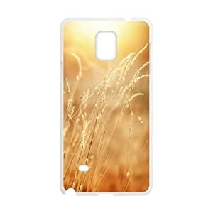 Tyquin Grass Samsung Galaxy Note 4 Cases Yellow Grass for Women, Samsung Galaxy Note4 Case, [White]