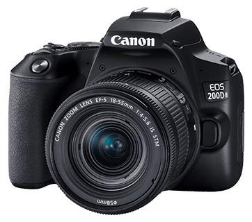 Canon EOS 200D II 24.1MP Digital SLR Camera + EF-S 18-55mm is STM Lens + EF-S 55-250mm is STM Lens (Black) 2