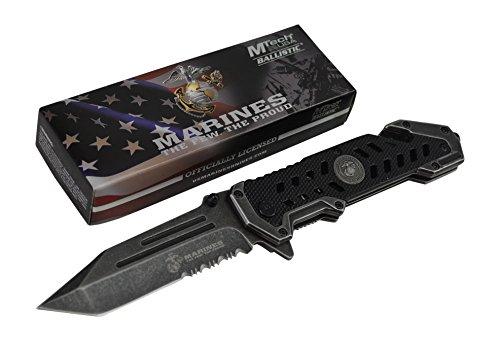 USMC-Marine-Tactical-Folding-Pocket-Knife-G10-Handle-Sharp-Tanto-Blade-Spring-Assisted-Military-Knives-EGA-Elite-Survival-Semper-Fi-Stonewashed