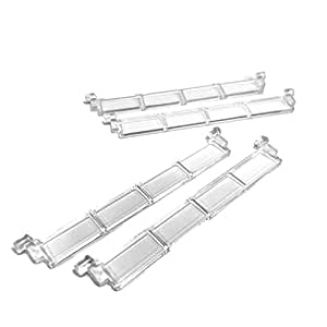 "Lego Parts: City - Garage Bundle (4) ""Door Roller Sections without Handle"" (Service Pack 4218 - 4 Transparent Clear)"