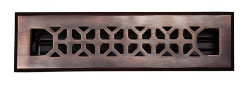 2'' x 12'' Antique Solid Copper Vent Cover (Floor Register) by Vent Covers Unlimited