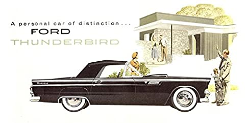 Metal Tin Sign 8x10 From Photos 1955 Ford Thunderbird Car Advertising - Pictures 1955 Chevy