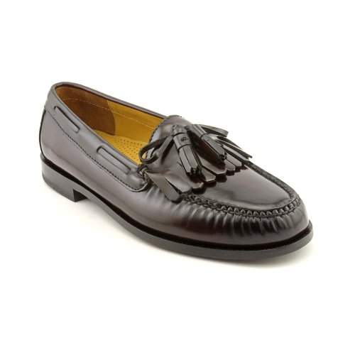 Cole Haan Mens Pinch Shawl Bow II Tassel Loafer Shoes, Burgundy, US 9