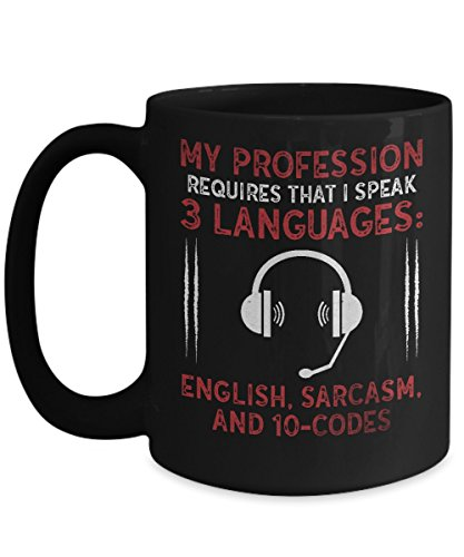 Buy cheap My Profession Requires That I Speak 3 Languages Funny Home Office Coffee Mug Cup Black (15 ounce)