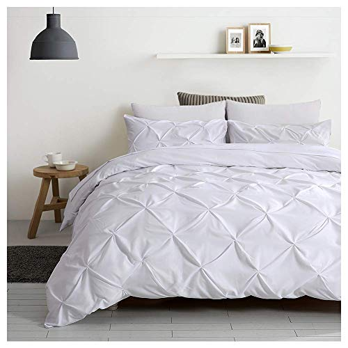 Auelife Queen Duvet Cover Set, 3 Pieces Pinch