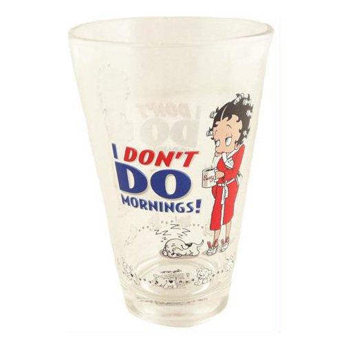 Betty Boop, I Don't Do Mornings Half Pint Glass BP2125