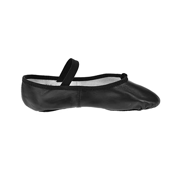 Bloch Arise Girls Leather Full Sole Ballet Shoes Pink B Fitting Black White