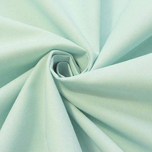 Stoffkontor - Tela 100% algodón orgánico por Metros, Color Turquesa Claro: Amazon.es: Juguetes y juegos