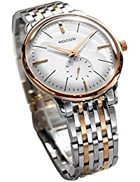 Men's Wrist Watches ROCOS Automatic Mechanical Watch for Men Waterproof Analog Watch with Stainless Steel and...