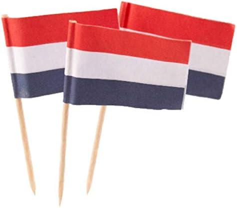 Niederländische Flagge Partypicker - 50 Stück
