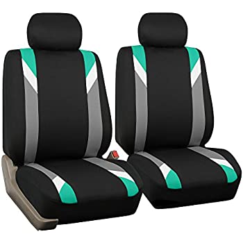 Heavy Duty Waterproof Front Seat Covers Protectors Black FIAT 500 ABARTH