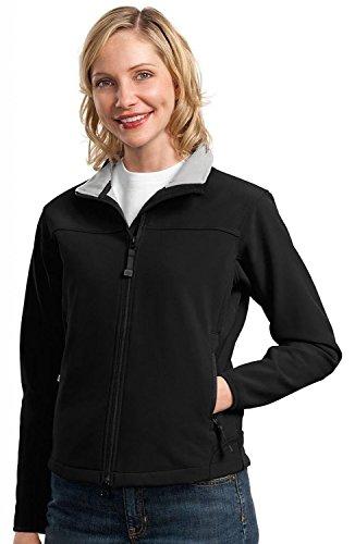 Port Authority - Ladies Glacier Soft Shell Jacket. L790 - Black/Chrome_S