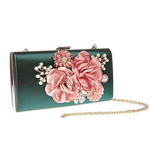 Stylish Green Evening Lovely Bags Clutches Clutch Purse Bridal Bag Hand Rabbit Flower Lady Wedding EgTFTBqUO