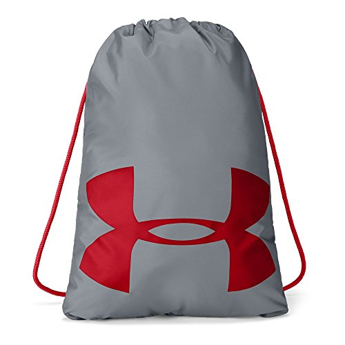 Under Armour Unisex Ozsee Elevated Reflective Sackpack, Steel (035)/Pierce, One Size (Cinch Pack Under Armour)