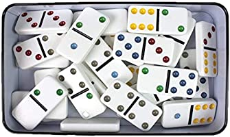 grupo fu Domino Doble 6. 28pc Dot Domino Juego de táctica - Juego de Mesa (Juego de táctica, Niños y Adultos): Amazon.es: Juguetes y juegos