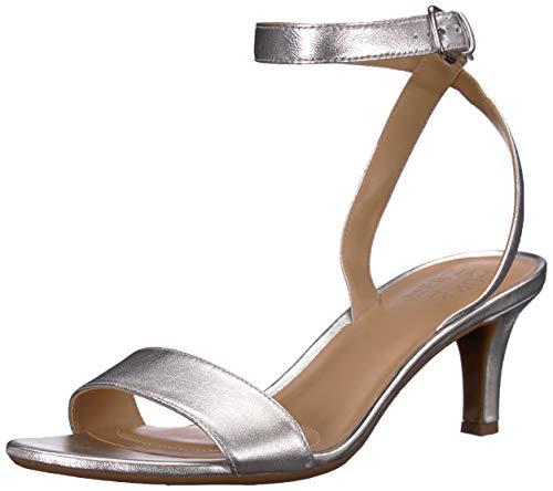 Naturalizer Women's TINDA Sandal, Silver, 7.5 M US