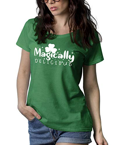 Womens Green St Patricks Day Shenanigans Shirt | Magically, M