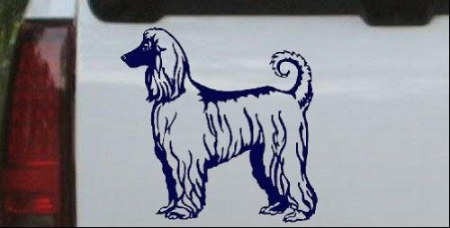 Navy 10in X 10.0in -- Afghan Hound Animals Car Window Wall Laptop Decal Sticker Afghan Hound Animals