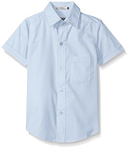 Boys Shirt Genuine (Genuine Boys' Woven Shirt (More Styles Available), Short Sleeve New Blue, 7)