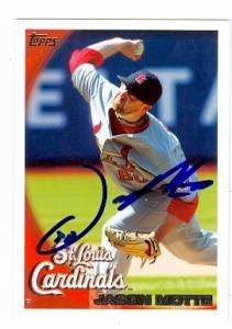 Jason Motte Autographed Baseball (Jason Motte autographed baseball card (St. Louis Cardinals) 2010 Topps #541)