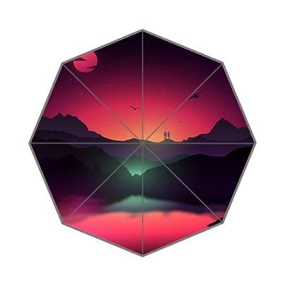 Couple romantique Rouge Motif parapluie pliable
