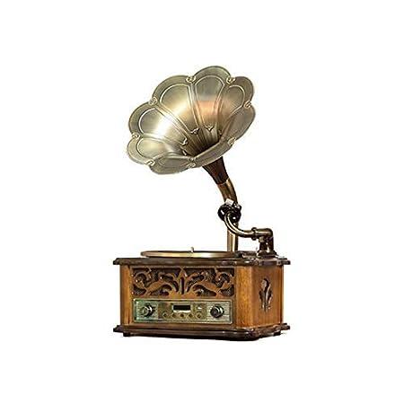 HYLH Gramófono, Tocadiscos Reproductor de Discos de Vinilo Control ...