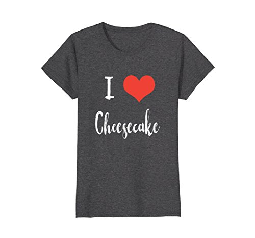 Womens I Love Cheesecake T-shirt Medium Dark Heather